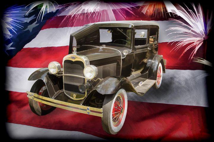 1930 Ford Model A Sedan Painting 553 - M K Miller III