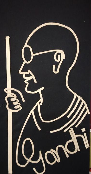 Mahatma Gandhi - A_A_K_creation👈