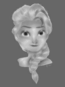 Elsa Painting (B&W)