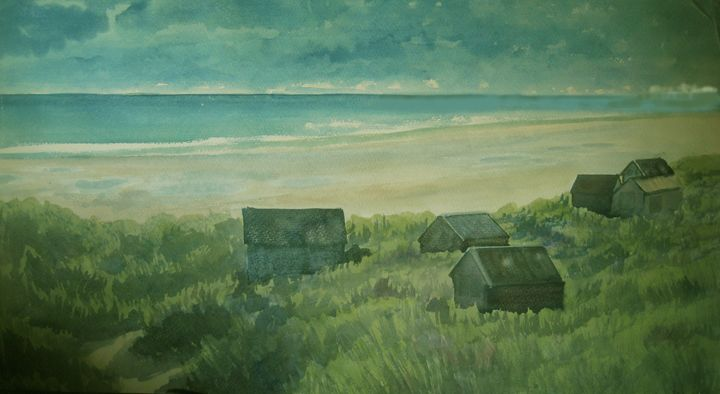 cottages - jose perlado-watercolors