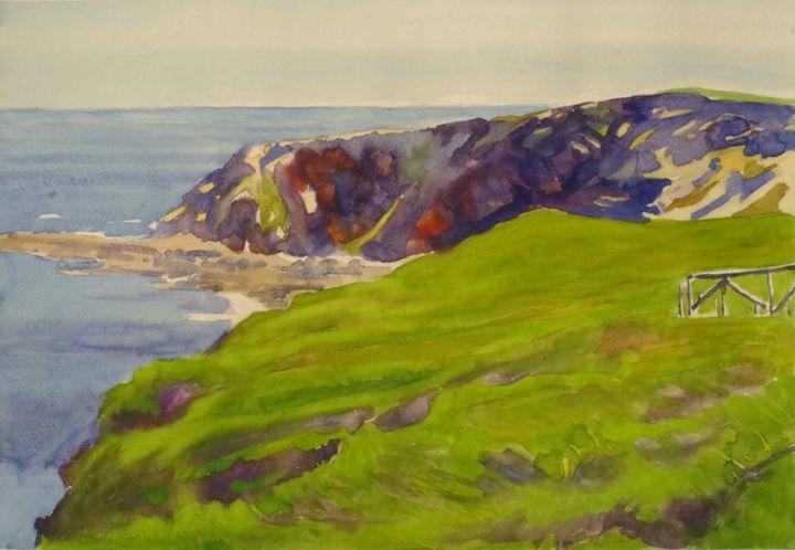 Miradorio Cape with midday light - jose perlado-watercolors