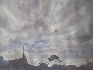 kites at Comillas - jose perlado-watercolors