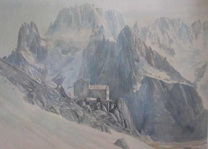 Renquin refuge - jose perlado-watercolors