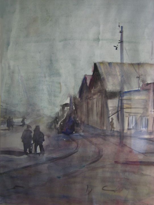 port facilities - jose perlado-watercolors