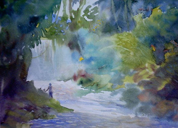 lost paradises - jose perlado-watercolors