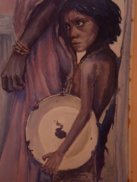 waiting for livelihood - jose perlado-watercolors