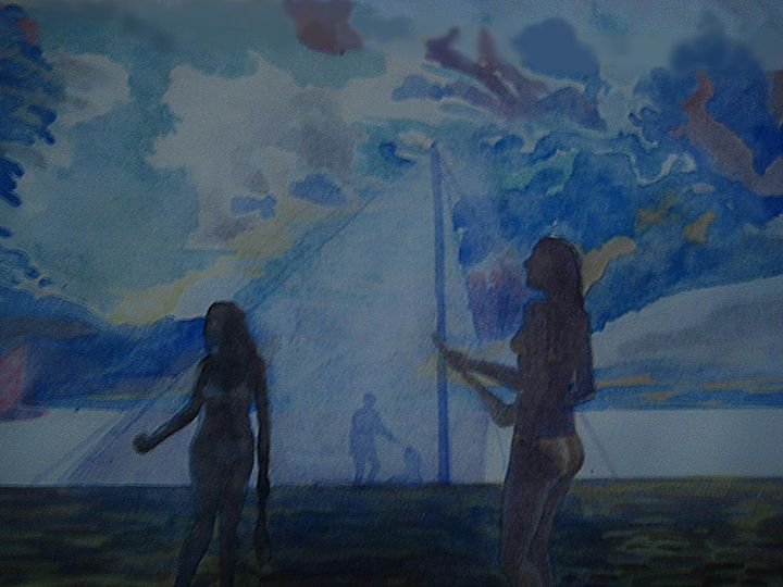 pallas at the beach - jose perlado-watercolors