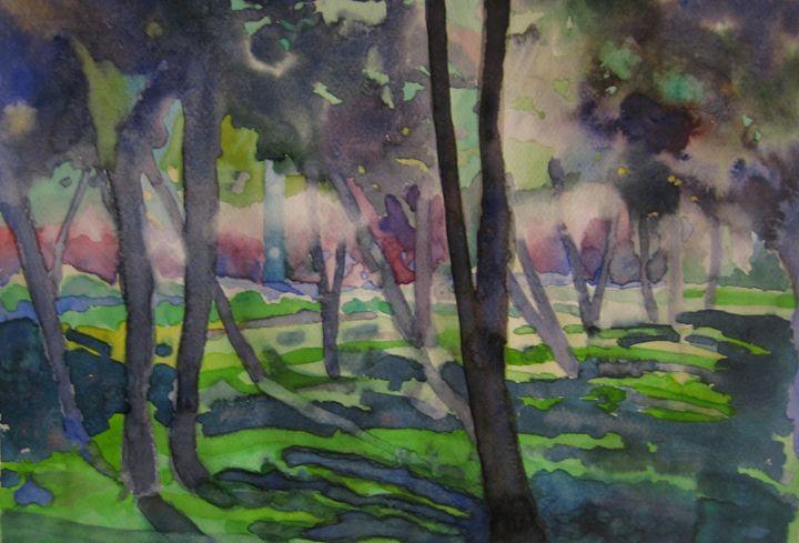 mill house park - jose perlado-watercolors