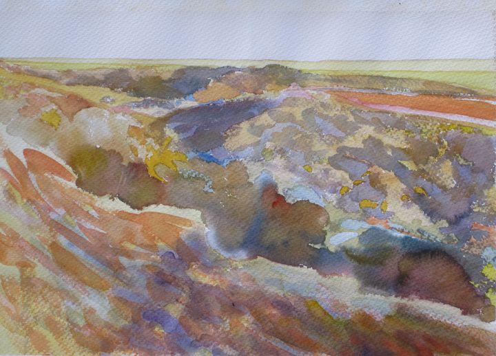 the Ravines - jose perlado-watercolors