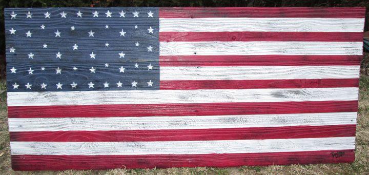 AMERICAN FLAG -Patriotic Honor- - M. DOBBS ORIGINALS