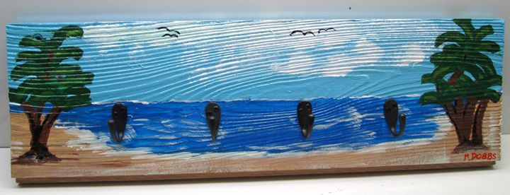 SeaScape Key Organizer, Hand Painted - M. DOBBS ORIGINALS