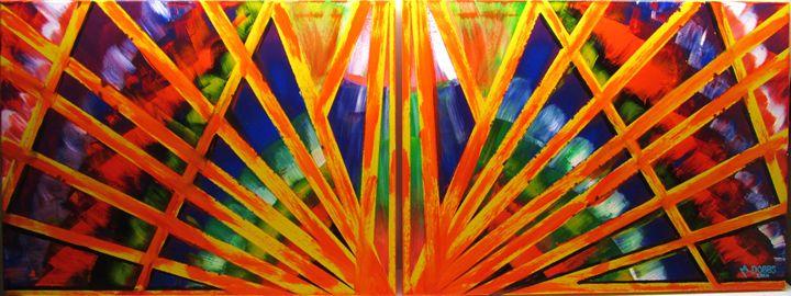 Abstract SUNBURST AT HIGH-NOON - M. DOBBS ORIGINALS