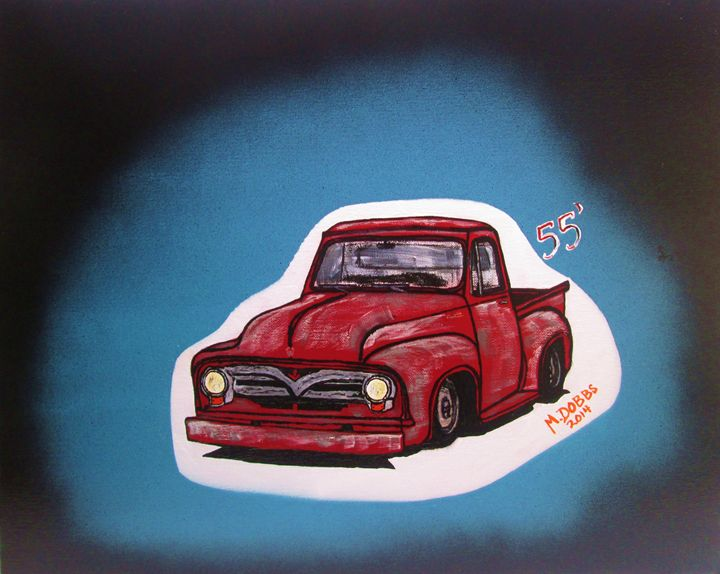 1955 f-100 Ford Pickup Truck - M. DOBBS ORIGINALS