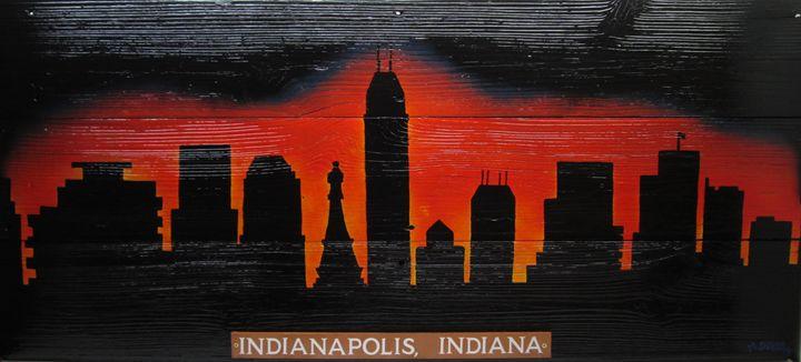 Indy Night-Life Indianapolis Skyline - M. DOBBS ORIGINALS