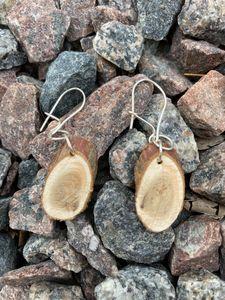 Natural cedar wood earrings