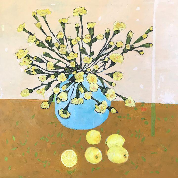 CARNATIONS AND LEMONS - rebecca