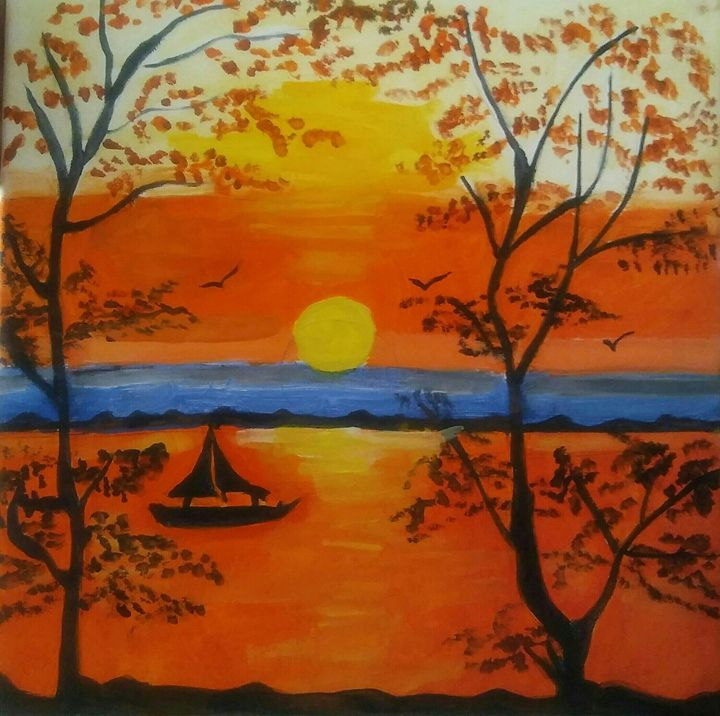 The Rising Sun - Ms Bee Art Collctions