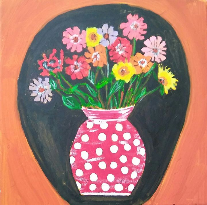 Flowers In The Vase - Ms Bee Art Collctions