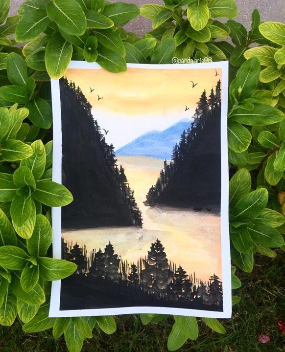 Yellowing waters - Panda.arts98