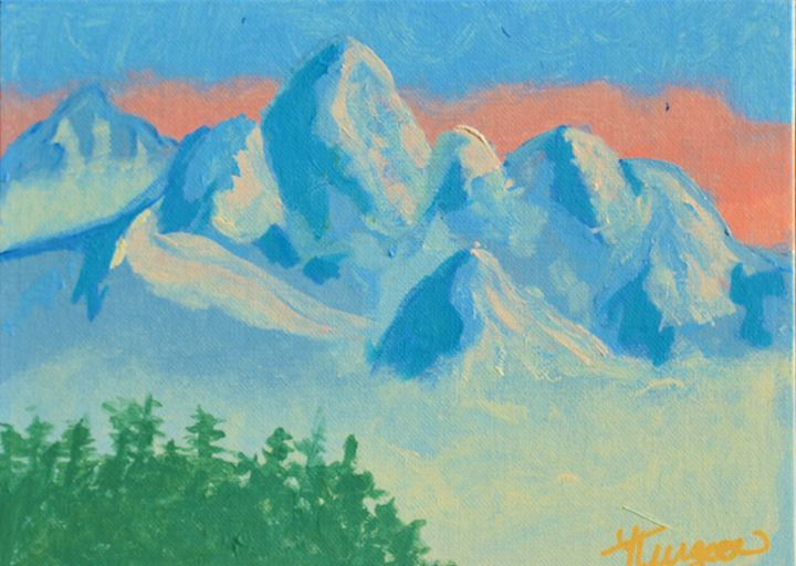 Blue Mountains - Art by Yvonne Turgeon