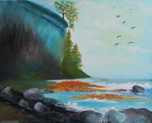 Blue Cliff - Amal's Art