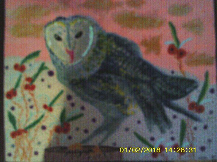 blacklight owl - Christopher Forney
