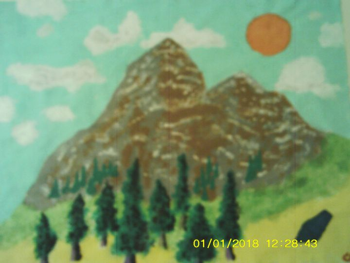 acrylic mountains - Christopher Forney
