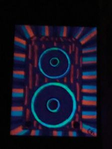 blacklight stereo speaker
