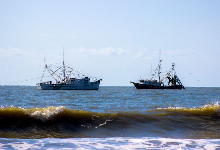 Two Shrimp Boats - Randall Messina