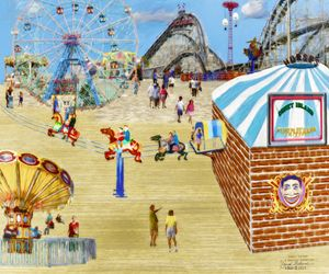 Amusement Park Wall Art