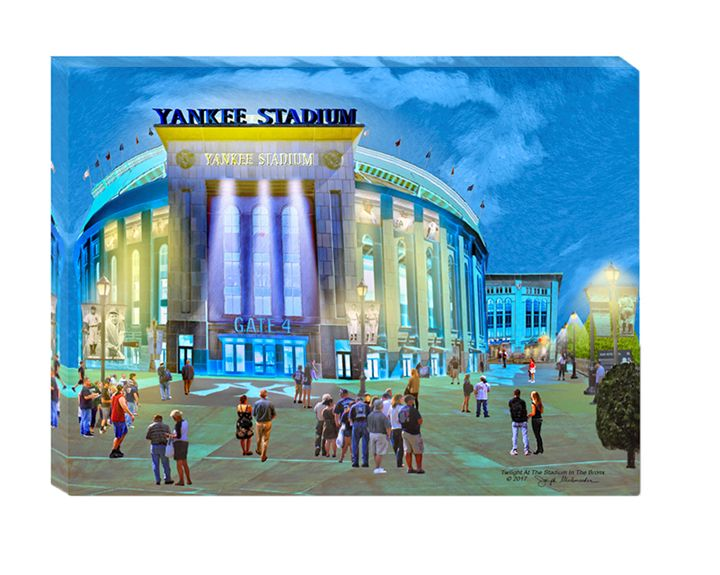 Twilight At Yankee Stadium - The Gallery Wrap Store