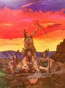 Texas native American Prison art