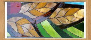 Stained Glass Saskatchewan Landscape - Ybot Studio