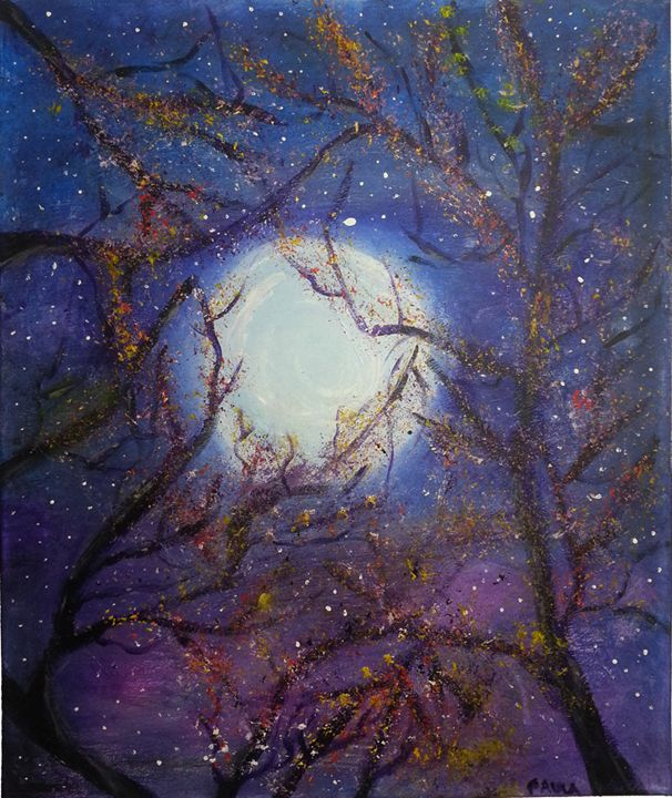 Moonlight Night - Petals Art Shoppe