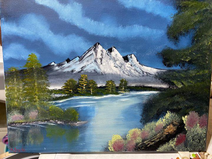 Hidden Waters - Original Boss Ross Inspired Oil paintings.