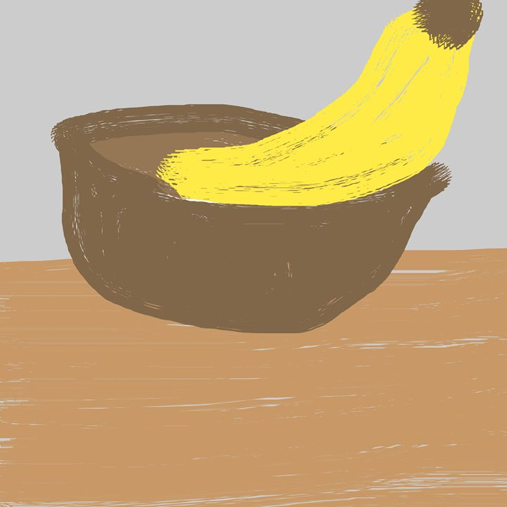 bananana in a bowl - Meme Kings Art