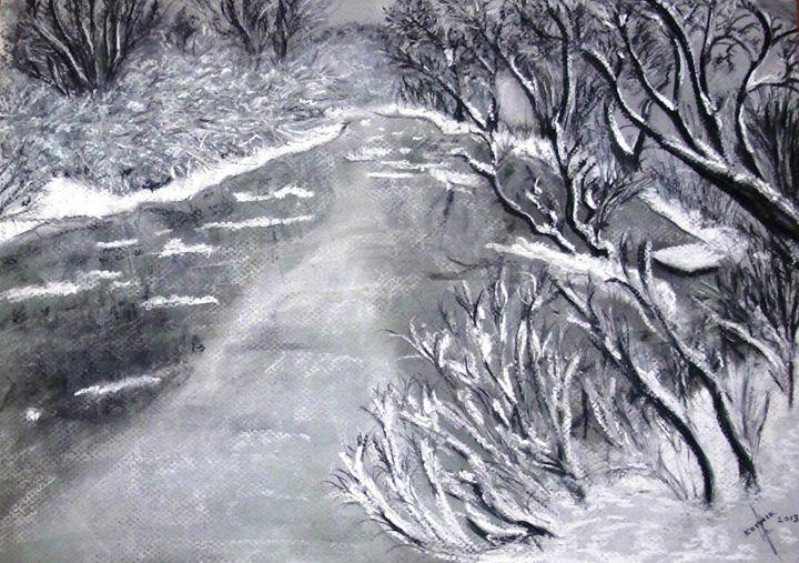 Winter River - Igor Kotnik ArtGallery