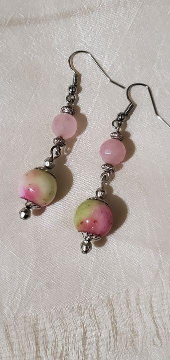 Pink Bead Earrings - Art of heart