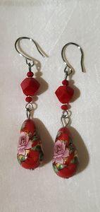 Alluring Red Dangle Earrings