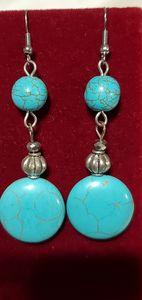 Blue Turqoise Earrings