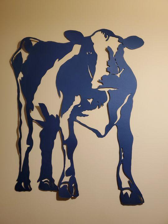 Cow cut art - Art of heart