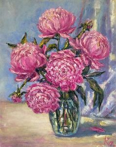 """Bouquet of Pink Peonies"""