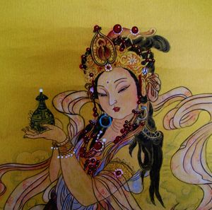 Guan Yin with Vase in hand/持瓶观音