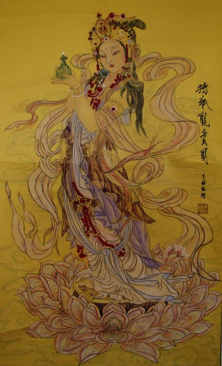 Guan Yin with Vase in hand(Y)/持瓶观音 - Arts.P.C
