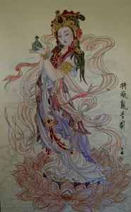 Guan Yin with Vase in hand(W)/持瓶观音