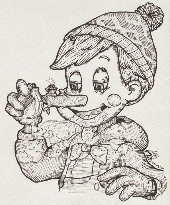 Pot and Pinocchio - Ayrton's Sketches