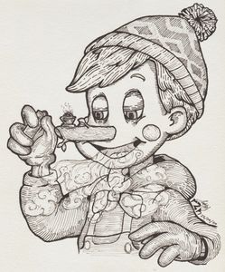 Pot and Pinocchio - Ayrton's Sketches