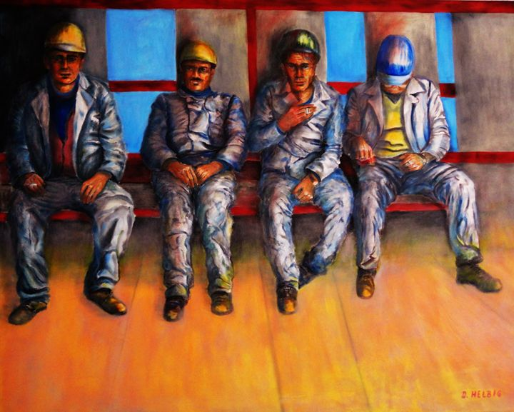 CONCRETE - Oil on Canvas 80x100 cm - Dagmar Helbig Art