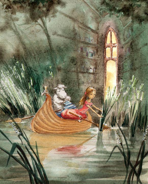 Alice In The Boat - InkPaint