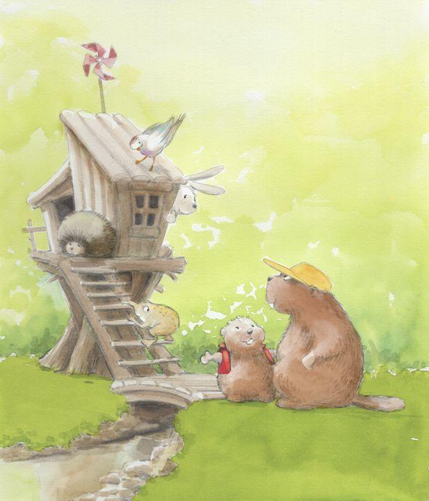 Beaver the Builder - InkPaint